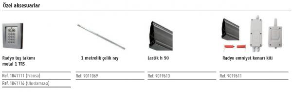 Somfy Elixo 800 230 V RTS Yana kayar kapı motoru özel aksesuarları