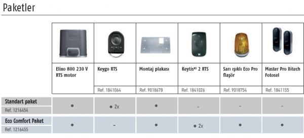 Somfy Elixo 800 230 V RTS Yana kayar kapı motoru paketleri