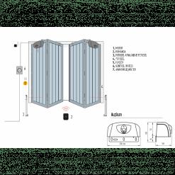 Nice Akordiyon Kapı Motoru, Hyppo 7100 Tek Motor