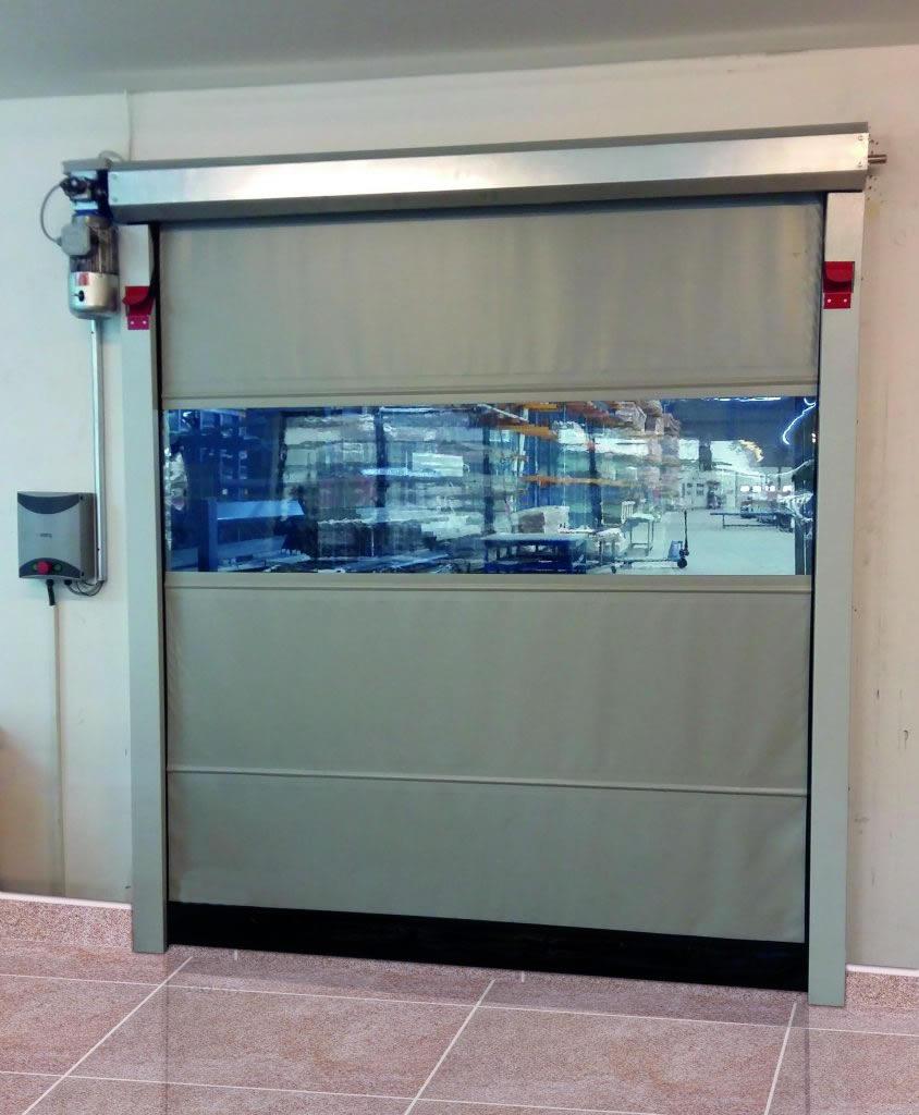 Sarmal hızlı branda PVC kapı